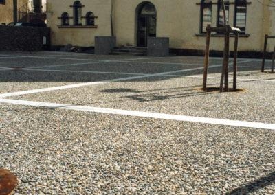 Pavimento decorativo lavado ácido